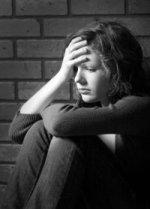 stressed teenage girl