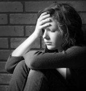 stressed female teen