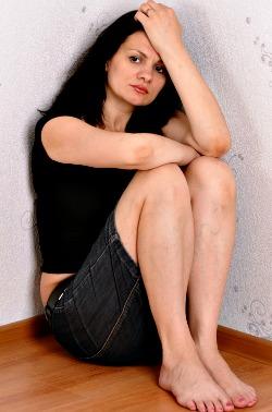 Woman battling depresssion