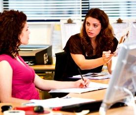 office staff women in conflict