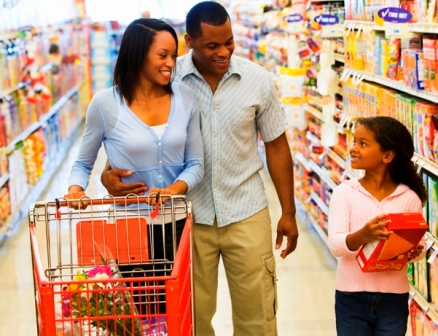 grocery shopping for healthy foods