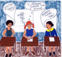 drawing depicting school bullying