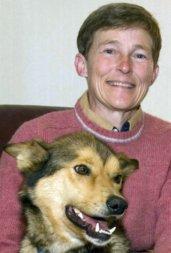 Liz Parrish and Husky dog