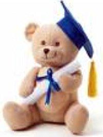 teddy bear with graduation cap and diploma