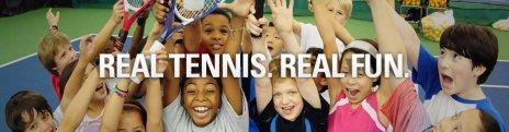 tennis kids celebrating