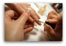 pamper yourself with a manicure