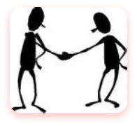 screen beans shaking hands
