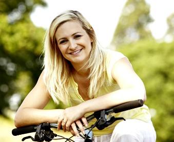 women bicyclist