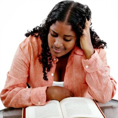 worried female student