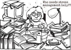 cartoon of adolescent stress
