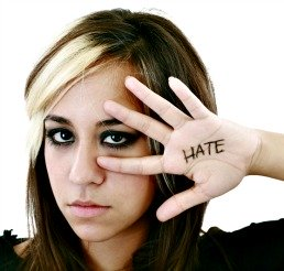 angry teen head shot