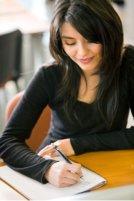 woman journal writing